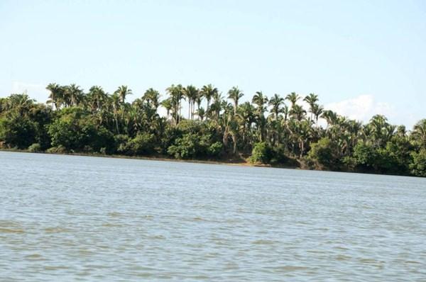 Paisagem natural de Araguatins, ao longo do curso do rio Araguaia