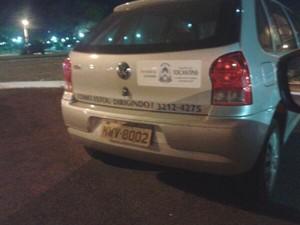 Carro teria sido visto por duas noites seguidas em frente de academia de Palmas