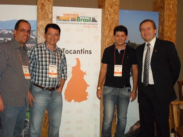 Eudes Ribeiro ao lado do secretário estadual de Meio Ambiente, Alan Barbiero
