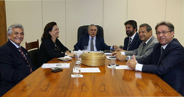 Reunião dos peemedebistas do TO ao vice-presidente da República, Michel Temer