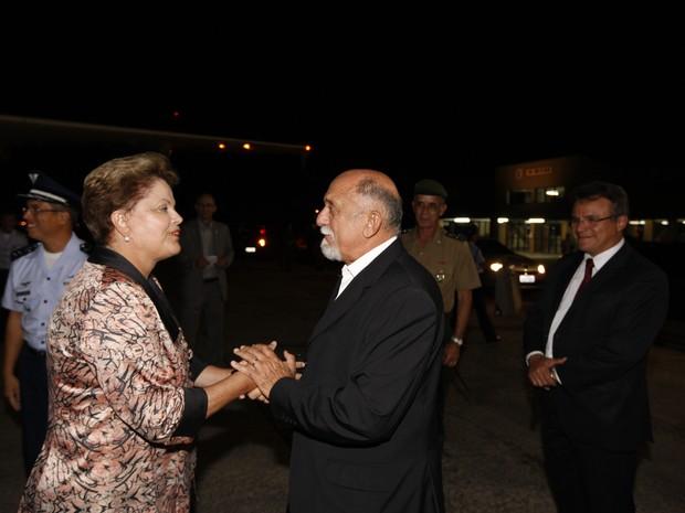 Presidente Dilma Roussef foi recebida pelo Governador Simão Jatene e pelo prefeito Zenaldo Coutinho na Base Aérea Belém