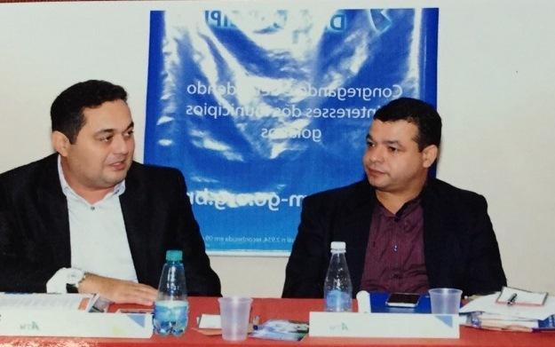 Prefeito de Pedro Afonso, Jairo Mariano (Esq.) e o secretário-Executivo da ATM, Jailton Bezerra