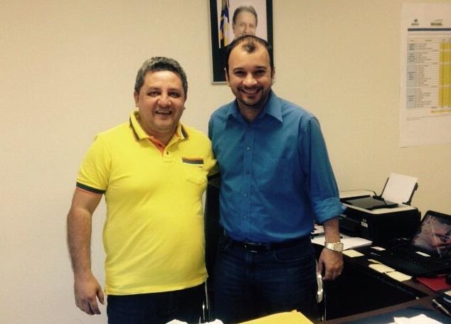 Jair Farias com presidente da ATS, Eder Martins