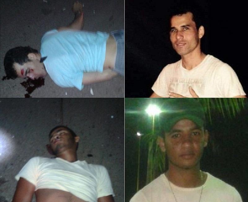 José Neto nas imagens de cima e Bruno nas de baixo