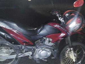 Moto do acidente