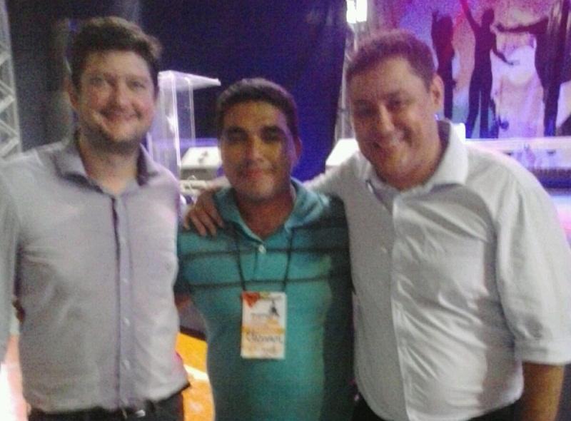 Secretário Nacional de Juventude, Gabriel Medina; Elisvan e Ricardo Ribeirinha