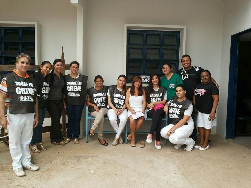 Grevistas em Augustinópolis