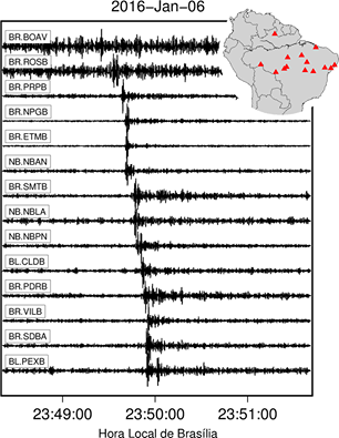 Registro sismológico no Brasil