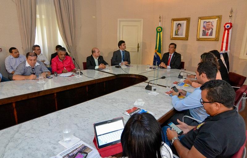 Governador Flávio Dino recebeu a imprensa maranhense para avaliar ações do primeiro ano de governo e fazer anúncios a população. Foto: Karlos Geromy