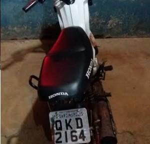 Moto utilizada pela dupla