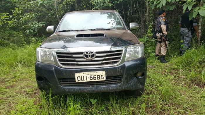 Um dos veículos encontrados pela PM nesta quarta-feira