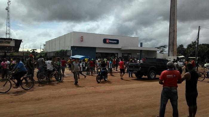 Agência do Banpará em Moju, alvo dos bandidos