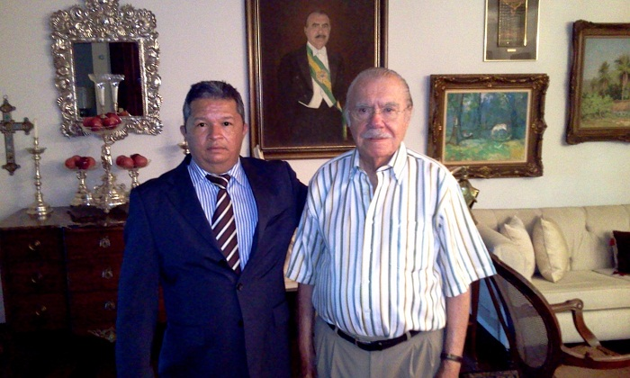Raimundo Curica com Sarney na residência do ex-presidente