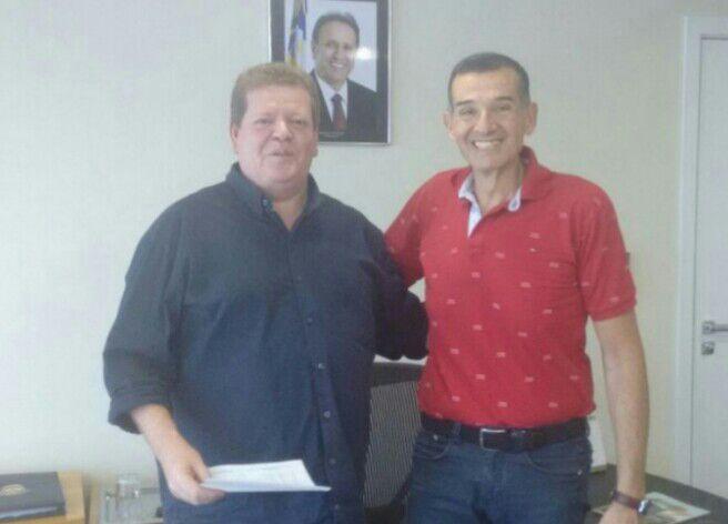 Gilton com o presidente da Agência Tocantinense de Transportes e Obras, Sérgio Leão, esta semana