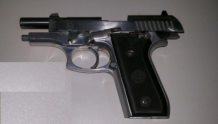 Arma apreendida em poder do vigilante