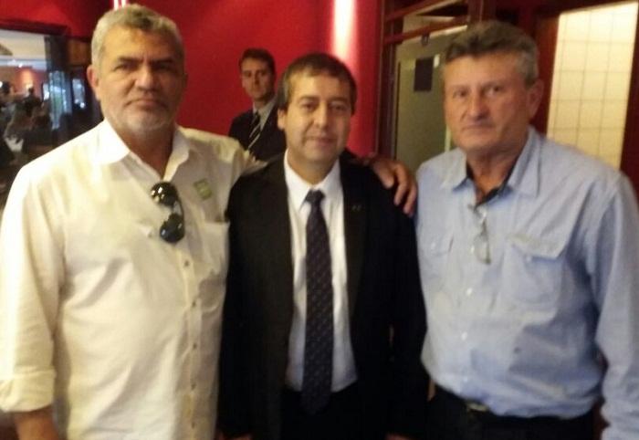 Aquiles com ministro Ronaldo Nogueira ao centro