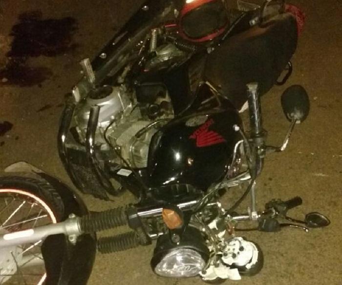 Moto conduzina por Francisco da Silva Bezerra, que morreu após acidente na TO-201