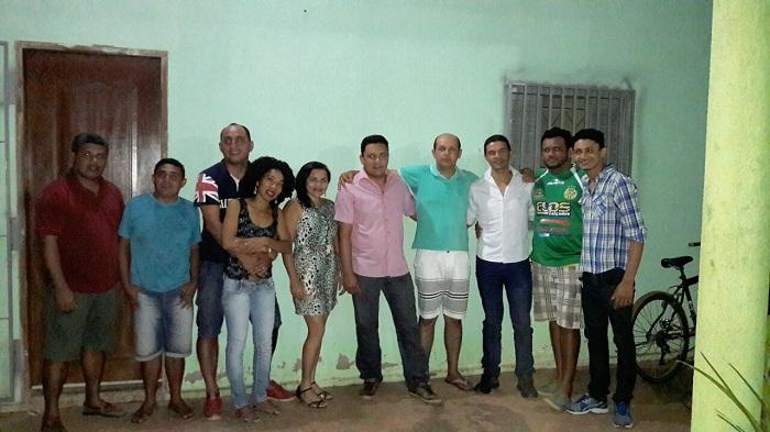 Professor Júlio com Vanderlei Arruda e membros do PPS
