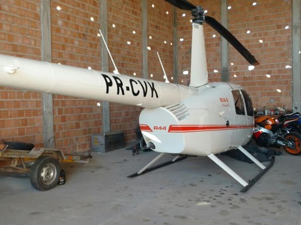Helicóptero foi apreendido em poder da quadrilha, além de outros bens adquiridos a partir de recursos desviados do SUS, de acordo com as investigações da Polícia Federal.