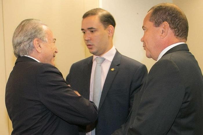 Presidente Temer, deputado Vicentinho Jr e senador Vicentinho Alves
