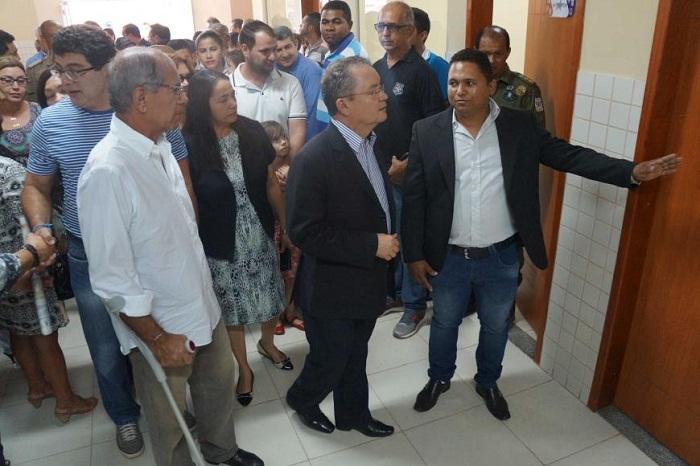 O vice-governador Zequinha Marinho (centro) e o secretário de Estado de Segurança Pública e Defesa Social, Jeannot Jansen (esq.), inauguraram a UIPP.