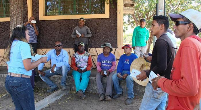 A equipe está na região do Bico do Papagaio realizando busca ativa por catadores