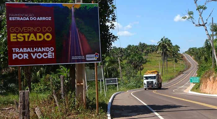Rodovia Padre Josimo – Estrada do Arroz é uma importante ligação entre cidades para deslocamento dos moradores e para escoar a produção.