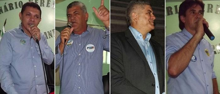 Alday Machado (PMN), Aquiles da Areia (PRB), Cláudio Santana (PMDB) e Marcos da Eticcam (PSDB), disputam a Prefeitura de Araguatins.