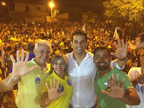 Em Xambioá, prefeita Silvia Machado em comício com Irajá, eleita pelo PSDB, se filiou no PSD e perdeu